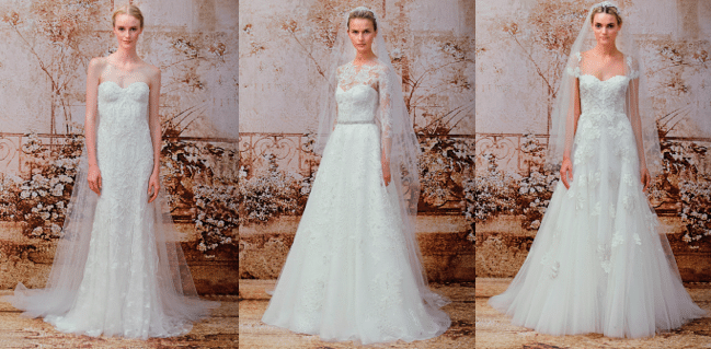 bridal gowns by Monique Lhuillier