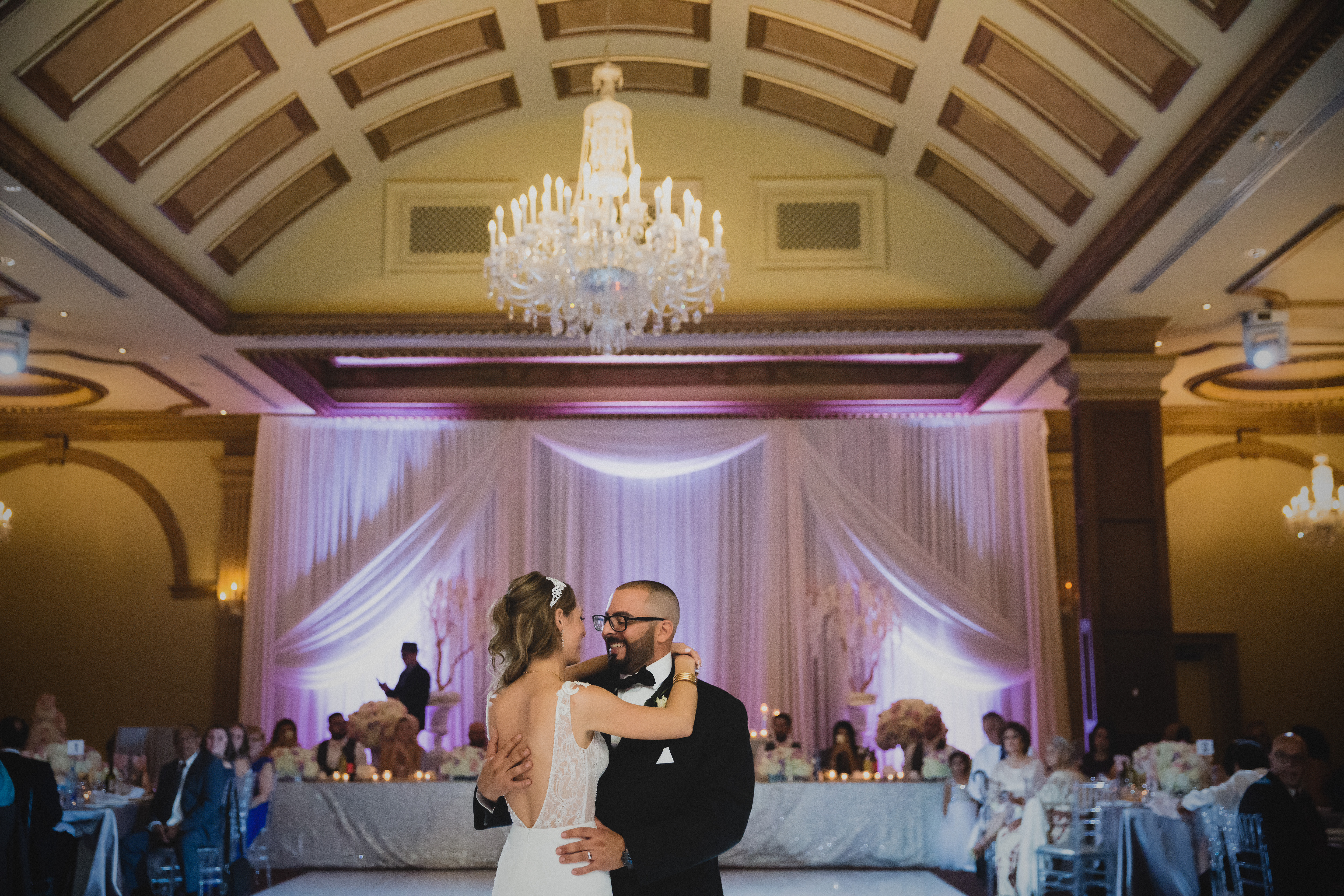 bride and groom first dance in toronto