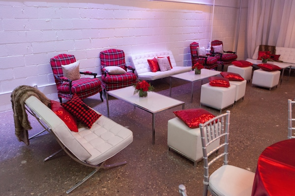 lounge at corporate event