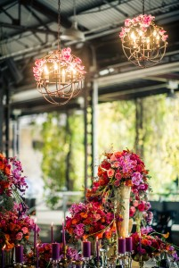 Romantic rustic lighting for wedding
