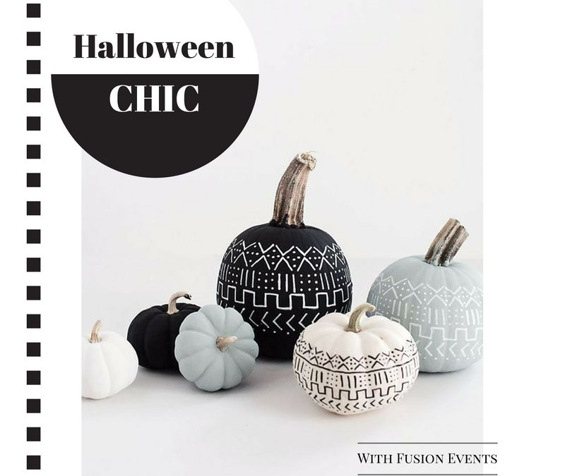"""Halloween Chic"" with various pumpkins designed"