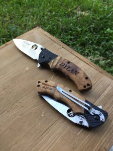 Engraved with name, pocketknife